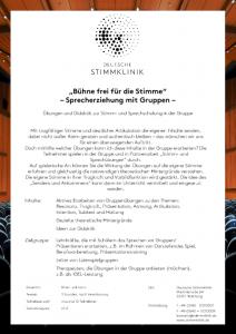 Bühne frei für die Stimme - DEUTSCHE STIMMKLINIK
