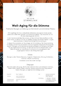 Well-Aging für die Stimme - DEUTSCHE STIMMKLINIK